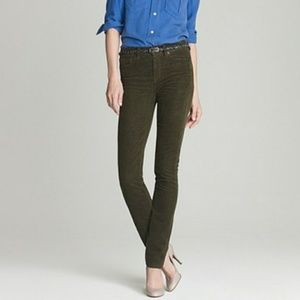 J. Crew High Waisted Skinny Cords Size 25